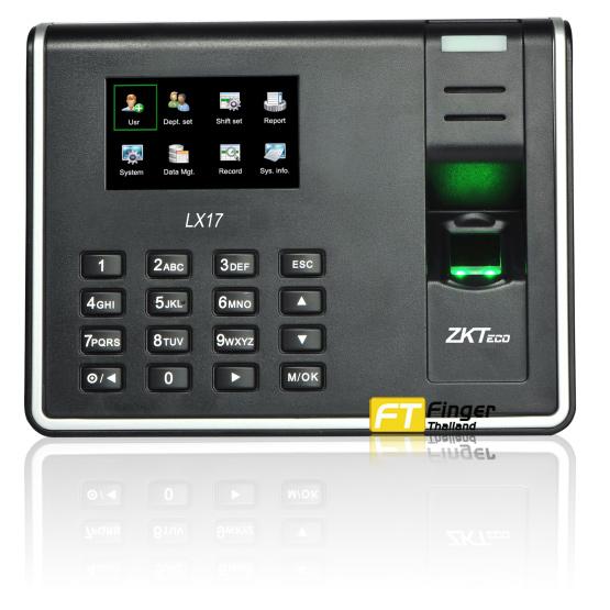 เครื่องสแกนลายนิ้วมือ ZKTeco LX17 แสดงหน้าจอ LCD